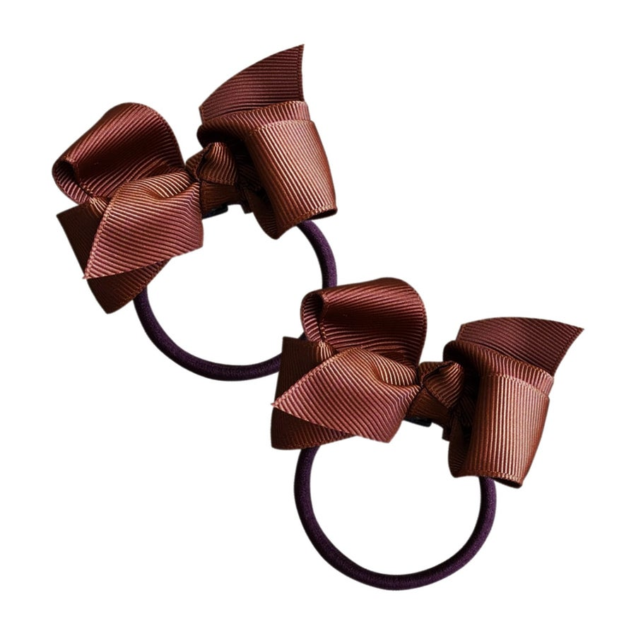 Image of Chocolate Chip Bow Hair Tie 2 Pack