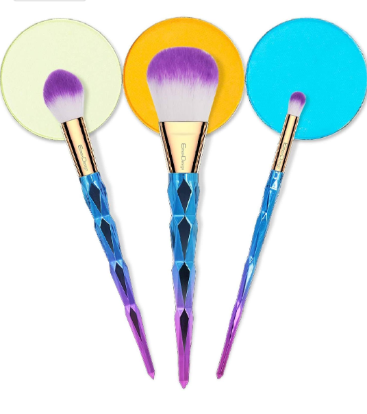 Makeup Brushes (4pcs) with Mermaid Inspired Handle