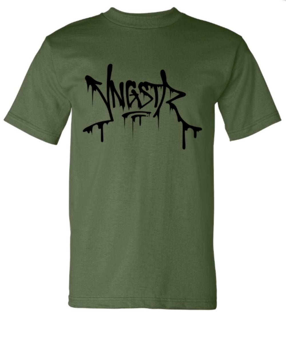Image of YNGSTR Drip Tee (Military Green)