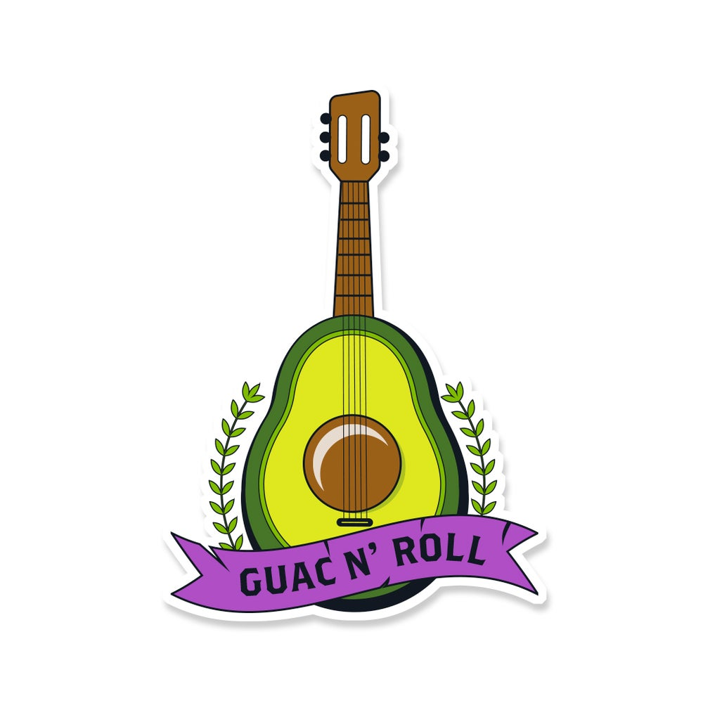 Image of Guac N' Roll Sticker