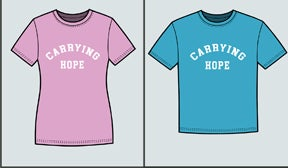 Image of Pink or Blue Carrying Hope Children's T-shirt