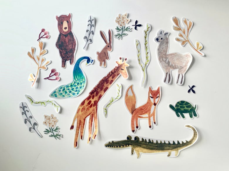 Image of Ready stock: Zoo Wall Decals