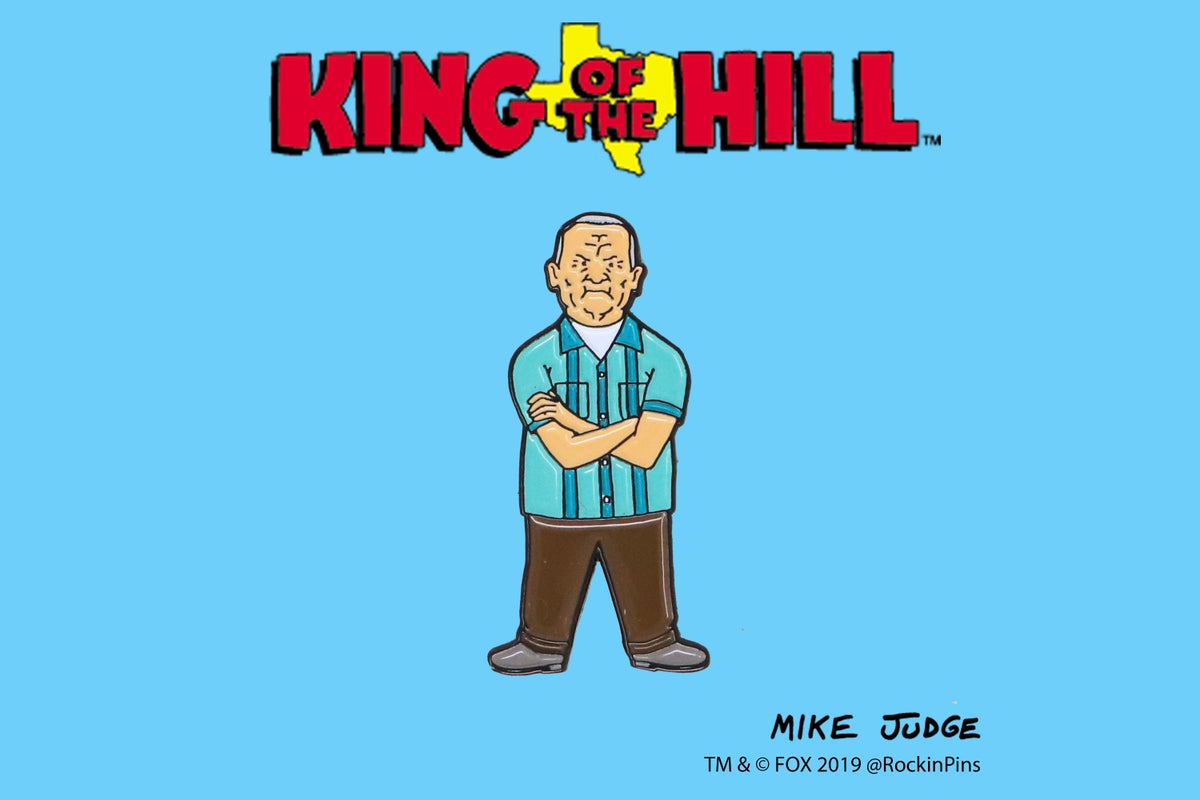 Image of King of the Hill - Cotton Hill Enamel Pin