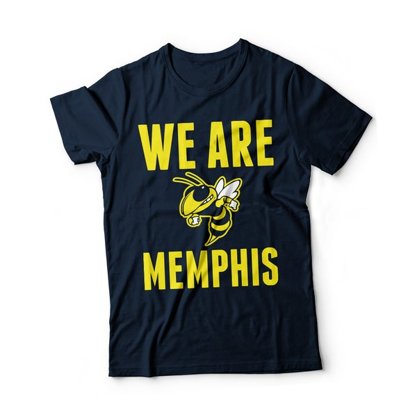 Image of We Are Memphis T-Shirt Or Hoodie Navy Blue
