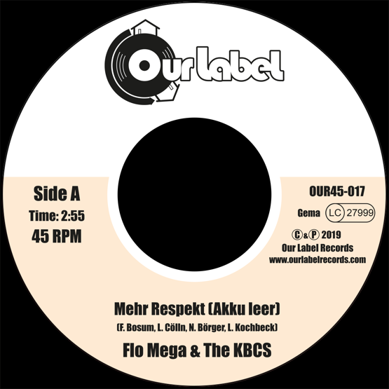 "Image of OUT NOW 7"" Flo Mega & The KBCS - Mehr Respekt (Akku leer)"