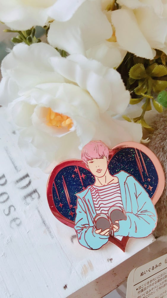 Image of Spring Day Jimin Heart Pin