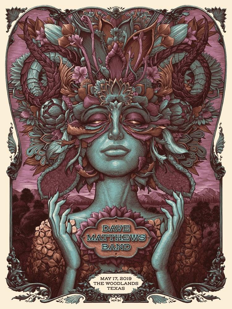 Image of Dave Matthews Band Woodlands Texas Gig Poster