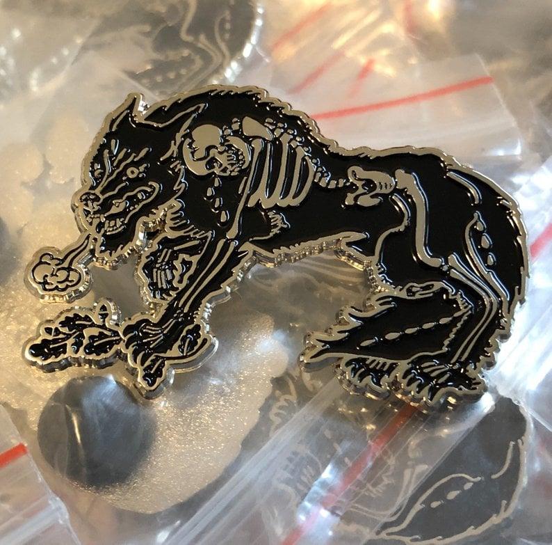 Image of werewolf tears enamel pin