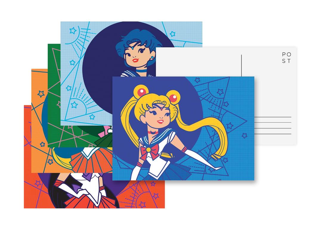 Image of Sailor Moon - Inner Senshi Postcards