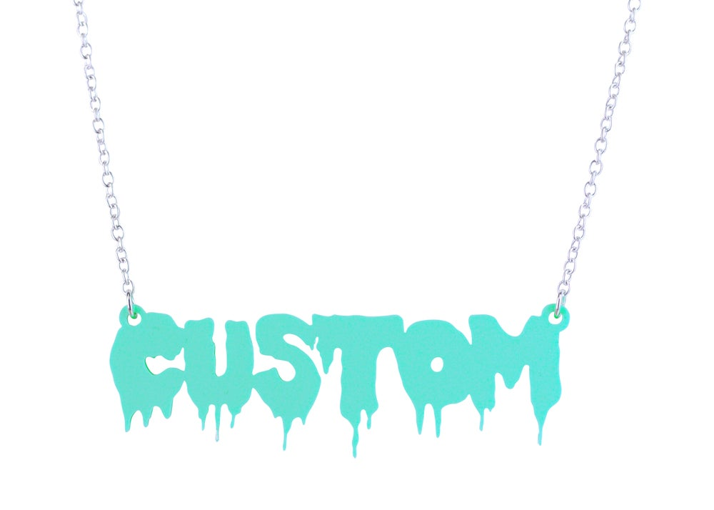 Image of Customised Word Name Necklace Hellvetica Font