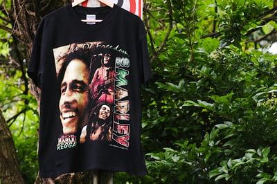 "Image of Rare 1997 Vintage ""BOB MARLEY- Songs Of Freedom"" Rap Tee"