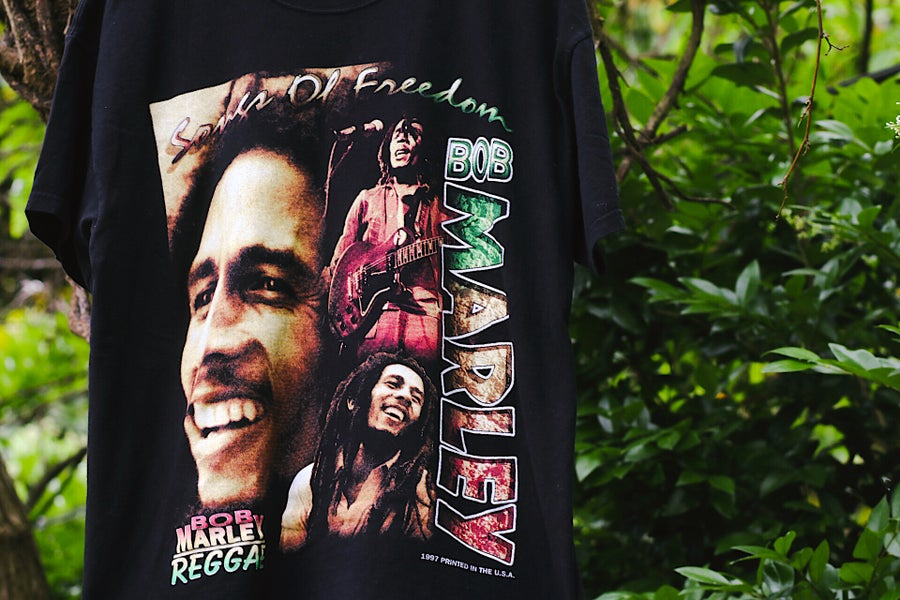 "Image of Rare 1997 Vintage ""BOB MARLEY- Songs Of Freedom"" Rap Tee"