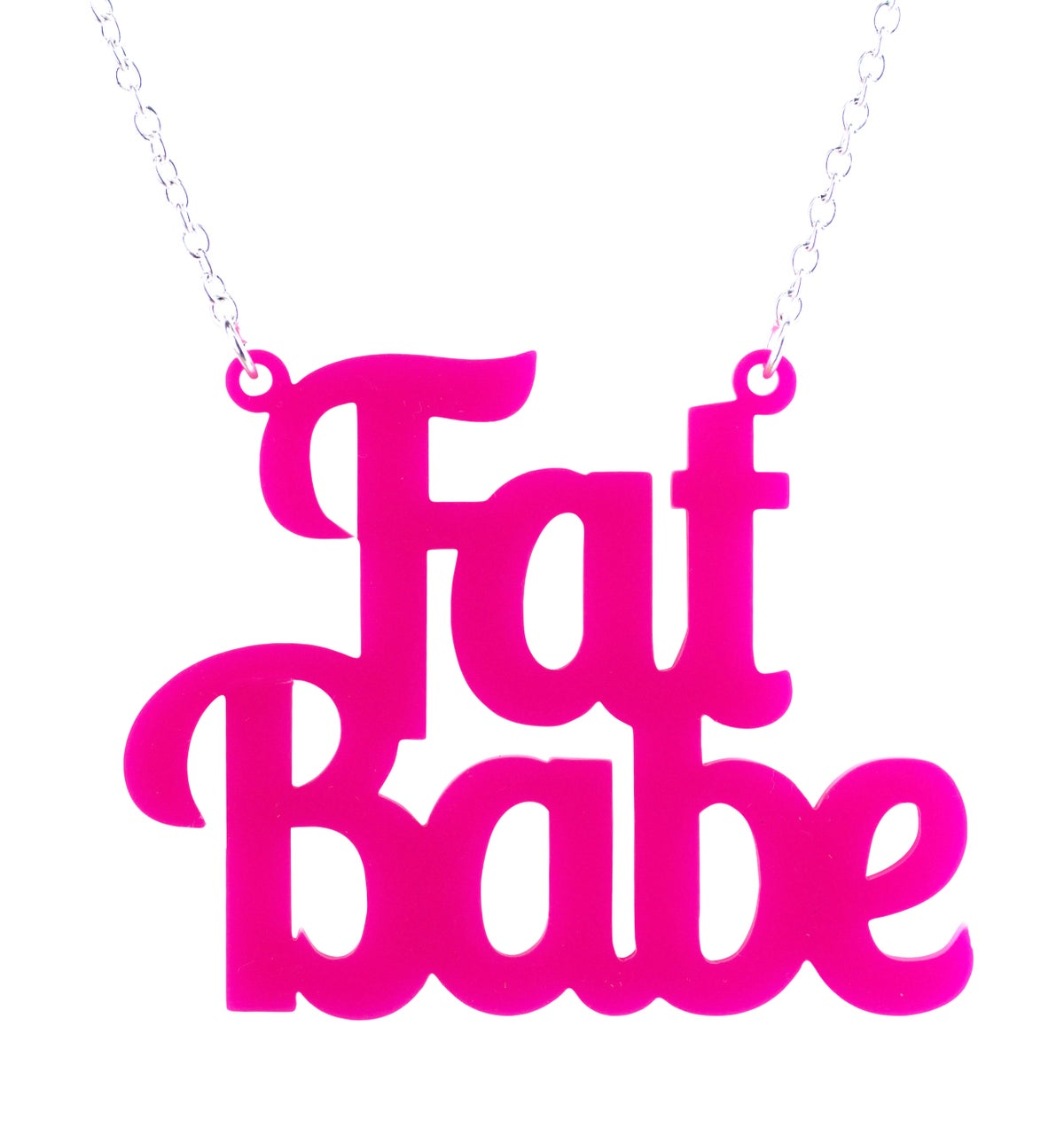 Image of Fat Babe Necklace
