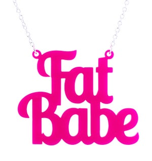Fat Babe Necklace - Black Heart Creatives