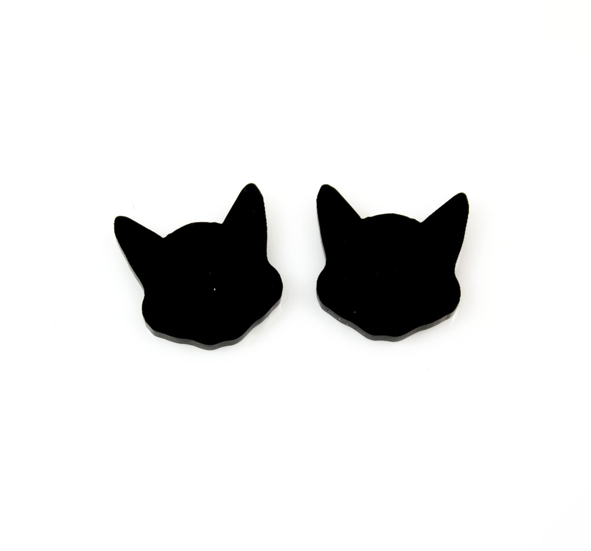 Image of Cat Face Silhouette Earrings