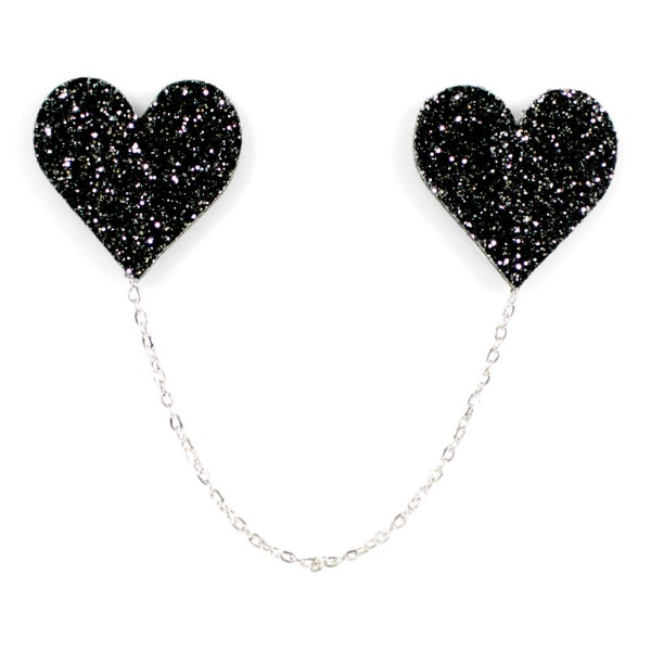 Heart Collar Pins - Black Heart Creatives