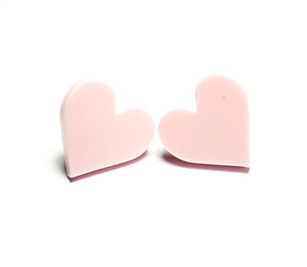 Heart Stud Earrings - Black Heart Creatives