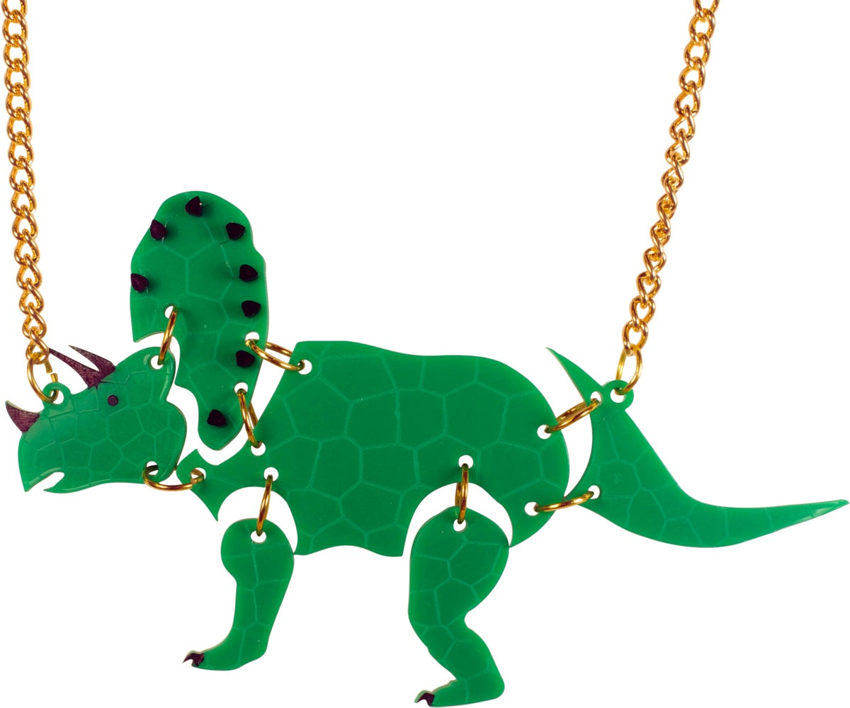 Image of Triceratops Dinosaur Necklace