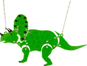 Triceratops Dinosaur Necklace - Black Heart Creatives
