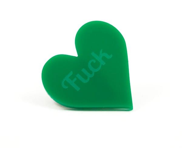 Fuck Heart Brooch - Black Heart Creatives