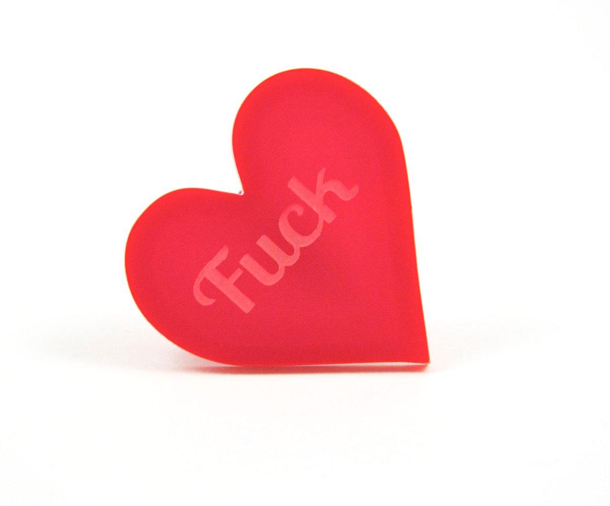 Fuck Heart Brooch Black Heart Creatives