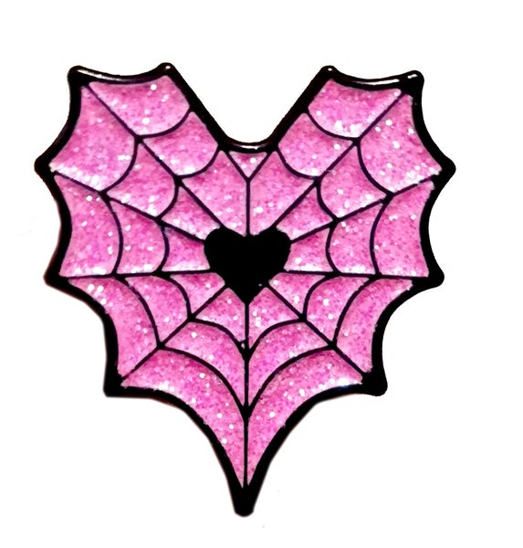 Image of Spider Web Heart