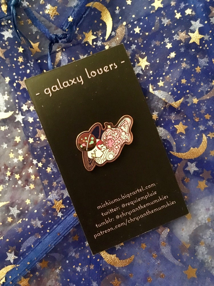 Image of -GALAXY LOVERS - enamel pin