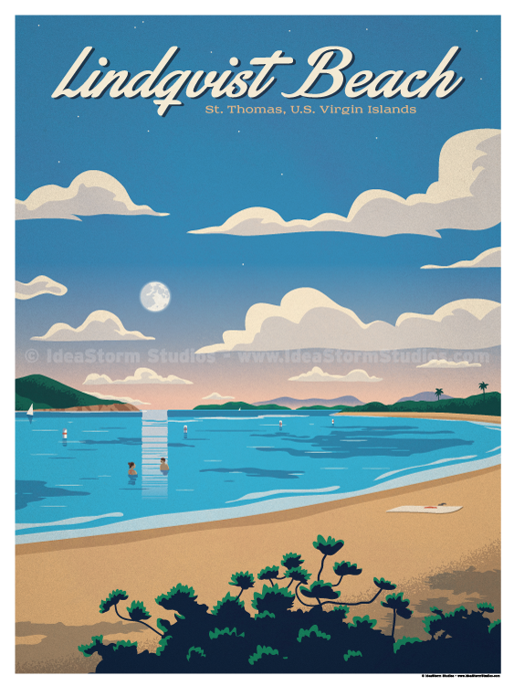 Image of Lindqvist Beach Poster