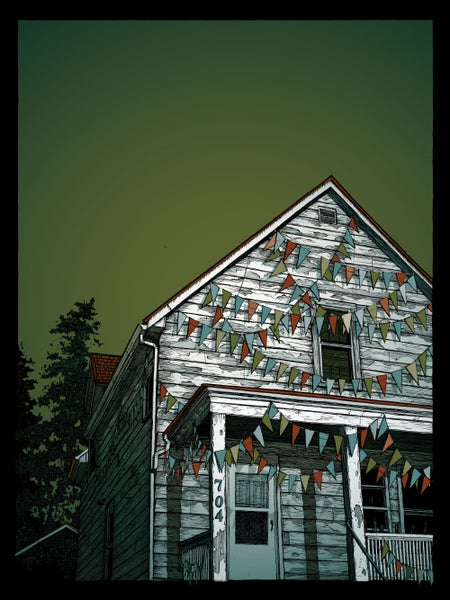 "Image of ""Untitled (the one with the house)"" • Limited Edition Art Print (18"" x 24"")"