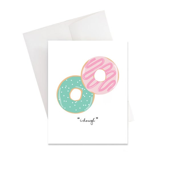 "Image of ""I Dough"" Wedding Card"