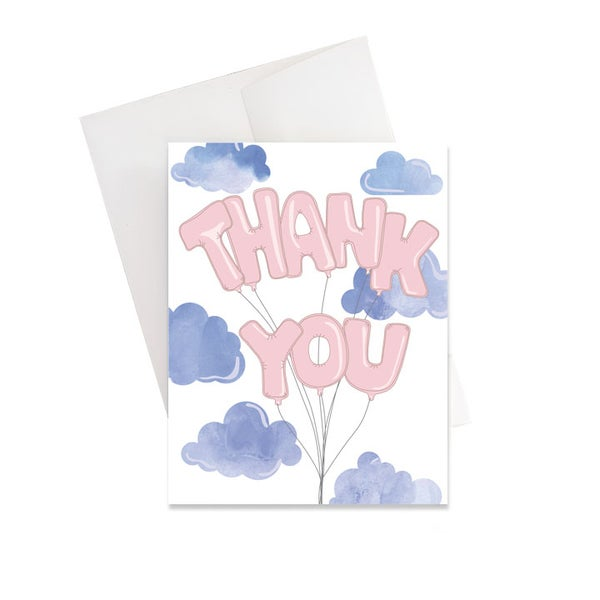 Image of Thank You Balloon Card