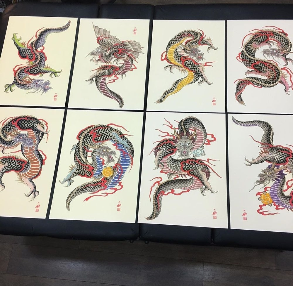 Image of Dragon prints by Spillo