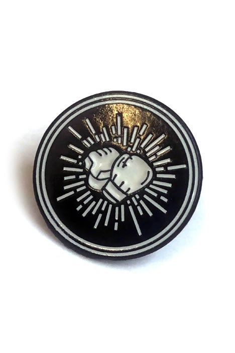 Image of OFFICIAL FIGHT DISCIPLES 'CLASSIC LOGO' PIN BADGE