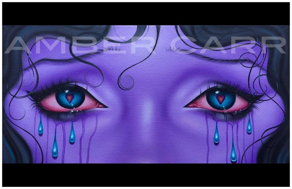 Image of Sad Purple Eyes print