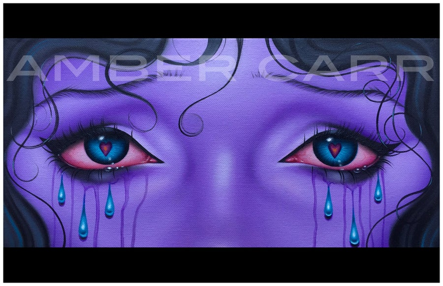 Image of Sad Purple Eyes print