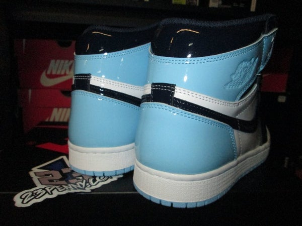 "Air Jordan I (1) Retro High ""UNC Patent Leather"" WMNS - areaGS - KIDS SIZE ONLY"