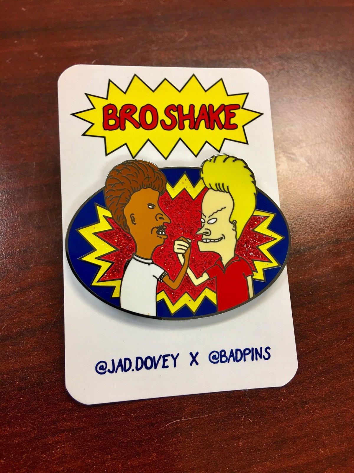Image of Broshake Lapel Pin Glitter Variant by Jad Dovey & Bad Pins
