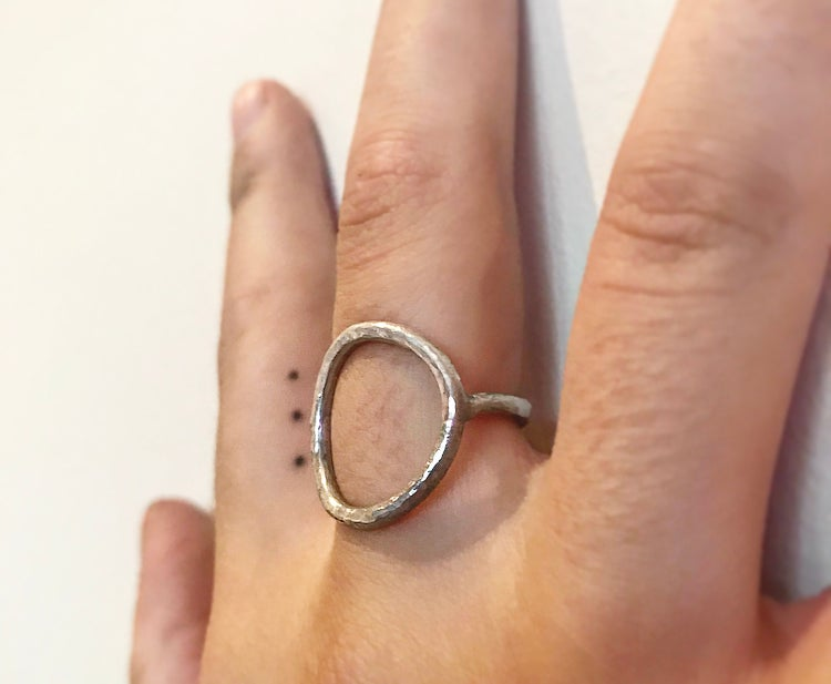 Image of FIRENZA Textured Eternity Circle Ring