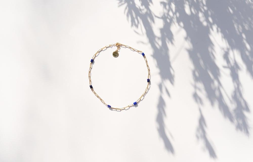 Image of Collier meluna Lapis Lazuli