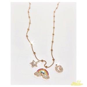 Image of Collana ciondoli personalizzata oro
