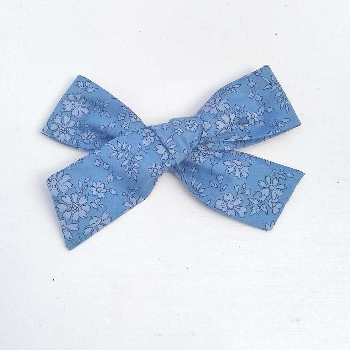 Image of Over Sized Hair Bow - Betsy Blue Liberty Fabric
