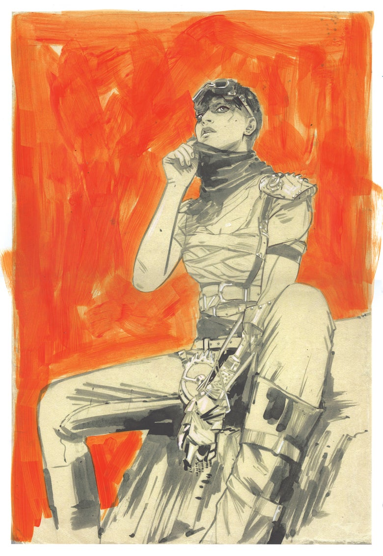 Image of FURIOSA - SOFACON HAND PAINTED LTD ED PRINT