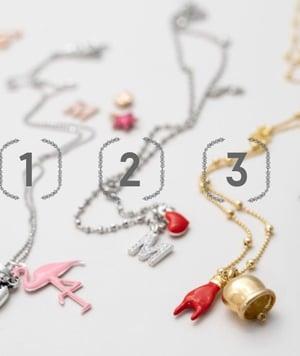 Image of Collana ciondoli personalizzata oro rosa