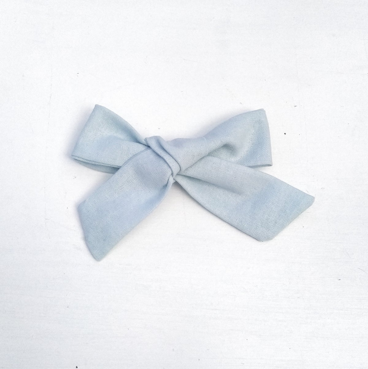Image of Over Sized Hair Bow - Powder Blue Linen