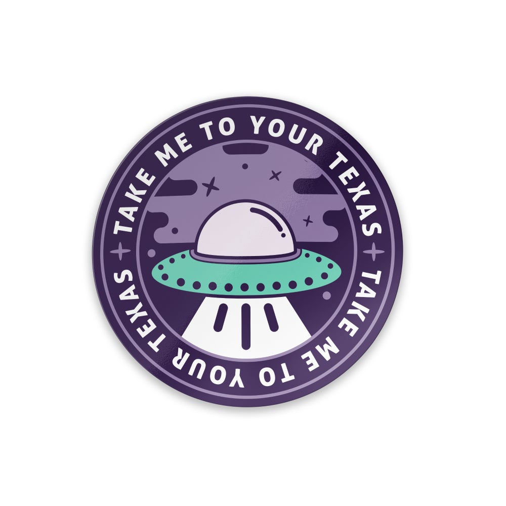Image of Texas UFO sticker