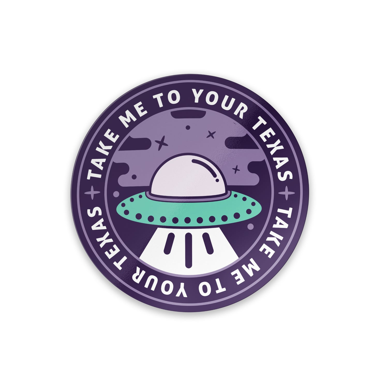 Image of Texas UFO sticker