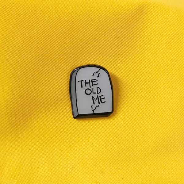 Image of The Old Me lapel pin