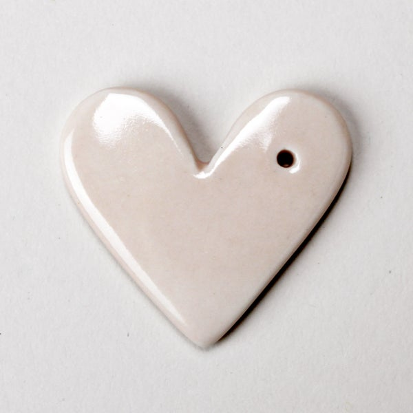 Image of heart gift tag or ornament, dusty rose
