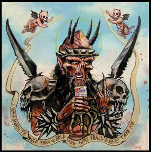 Image of GWAR oderus patch or print hail the slave lord