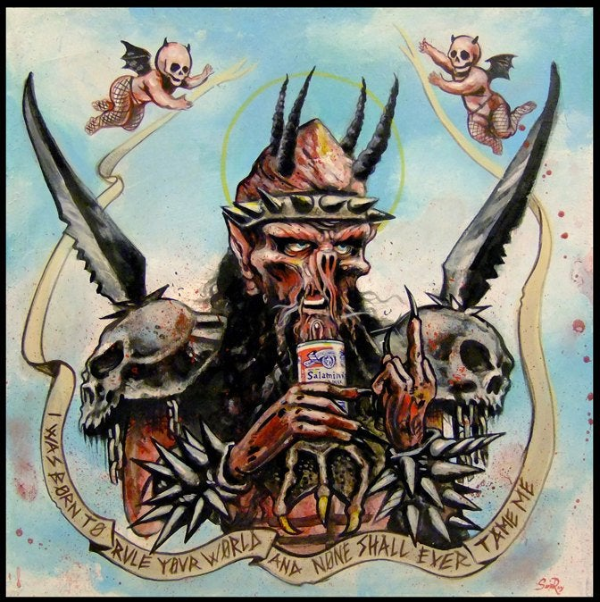 Image of GWAR oderus print hail the slave lord